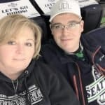 Tanya and Jeffrey at a Seattle Thunderbirds game