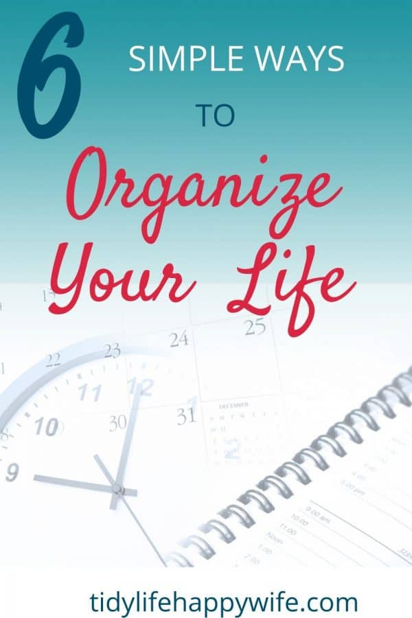 Clock, calendar and planner used to organize life