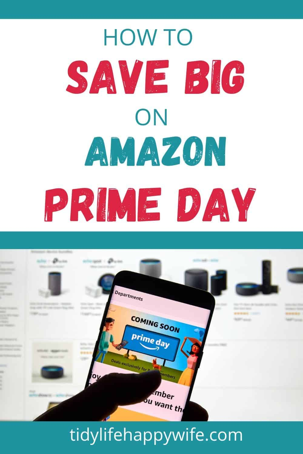 Smartphone with ad for Amazon Prime Day