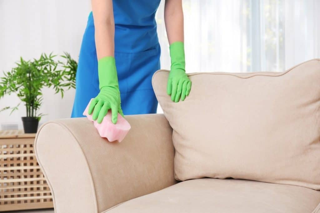 cleaning upholstery stain with shaving cream