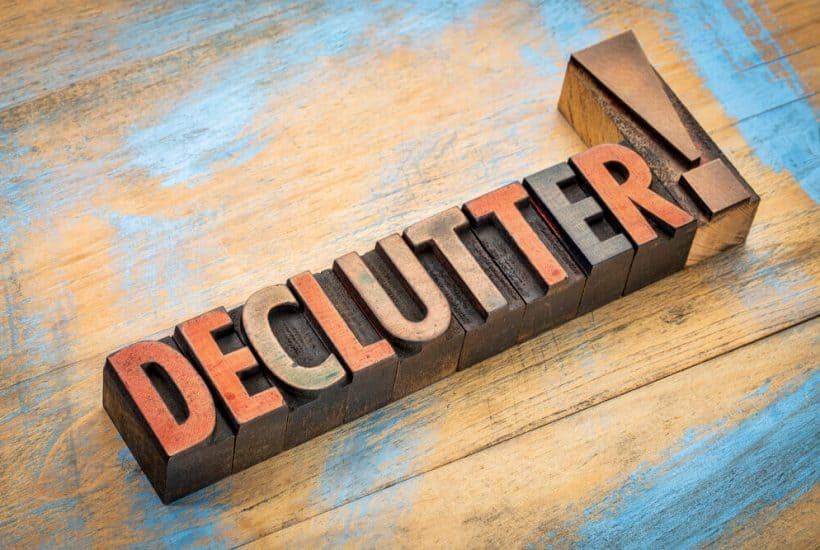 Declutter sign