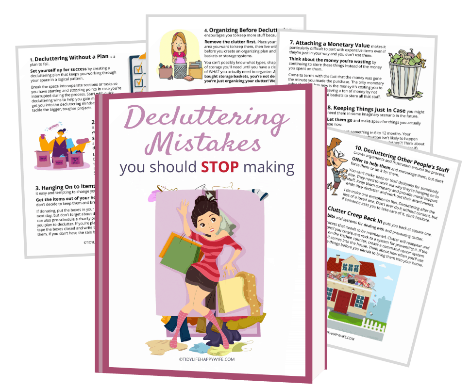 decluttering mistakes printable guide
