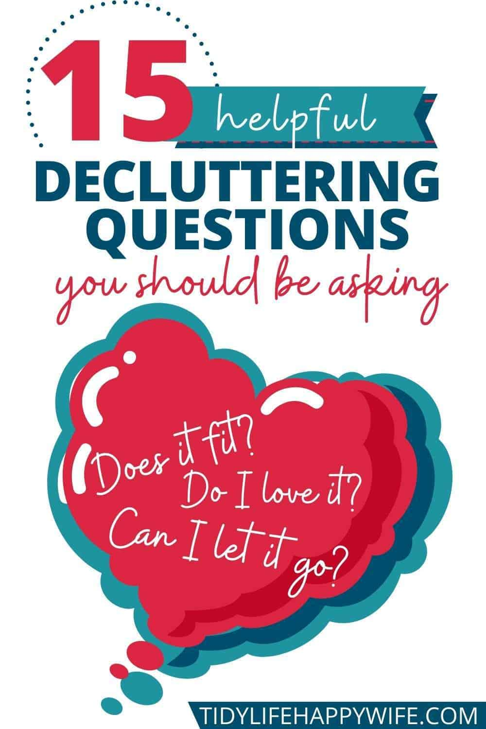 Are you struggling to declutter? Try asking yourself these questions while decluttering your kitchen, bedroom, bathroom, and office. Each question will help you make the decision to keep or toss every item you encounter in your house. Decluttering can't get much easier or more effective than using these questions to help you decide what's clutter and what isn't. Make them part of your regular process and you'll have every room in your entire home decluttered in no time.  via @Tidylifehappywife