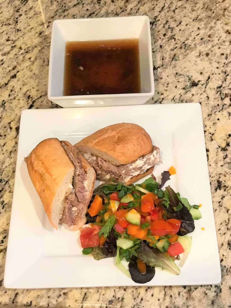 Easy slow cooker French Dip recipe that comes out tender and juicy every time.