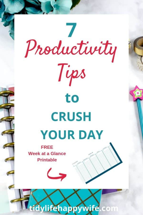 Productivity tips to crush your day by getting it all done