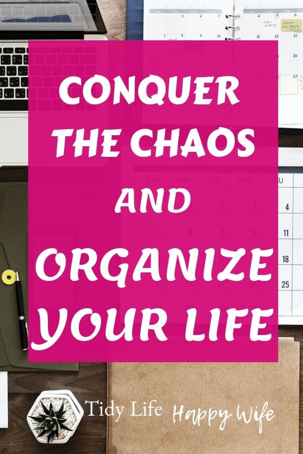 Laptop, calendar, and planner used to conquer the chaos and organize your life