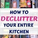 Decluttered spice cabinet