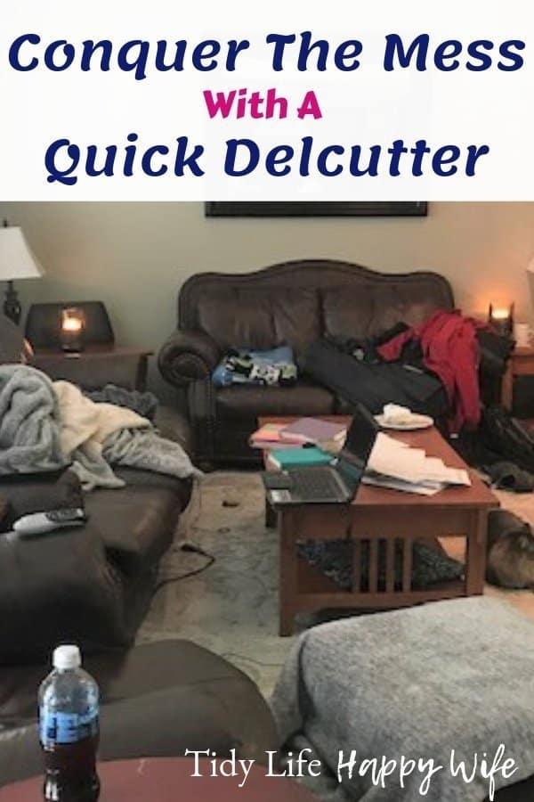 Cluttered living room can be decluttered in 15 minutes