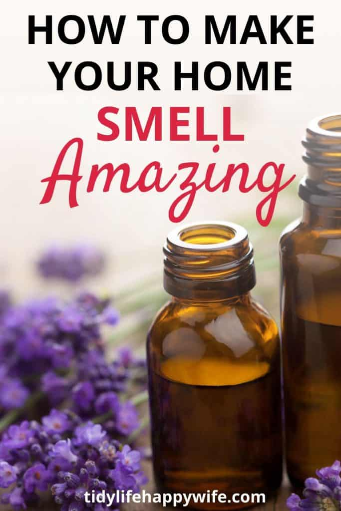Lavender and two bottles of lavender essential oil