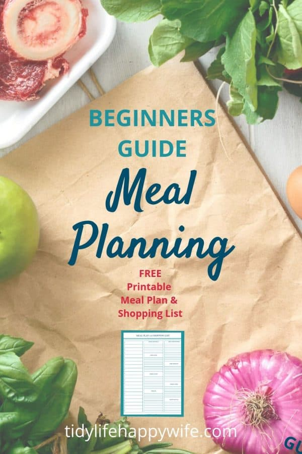 Vegetables for meal planning