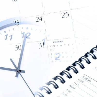 Planner,calendar and clock for an organized life