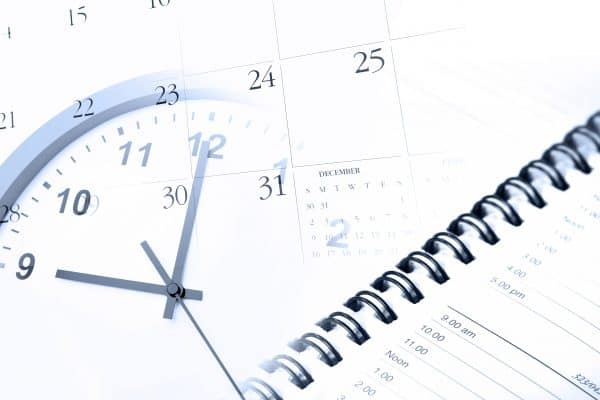 Planner calendar and clock for an organized life