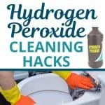 using hydrogen peroxide to clean the toilet