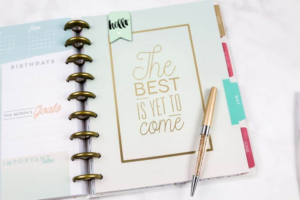 A planner to help you stay organized