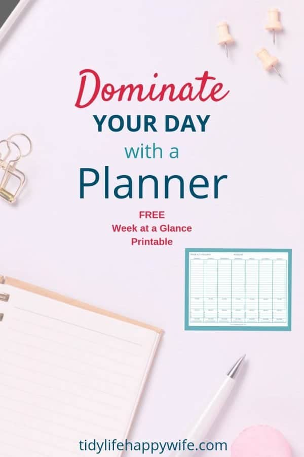 Planner used to organize your life