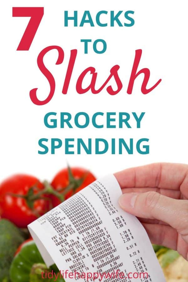 Groceries and receipt showing savings