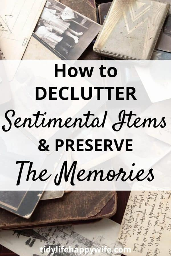 old journals, postcards, and photos creating sentimental clutter