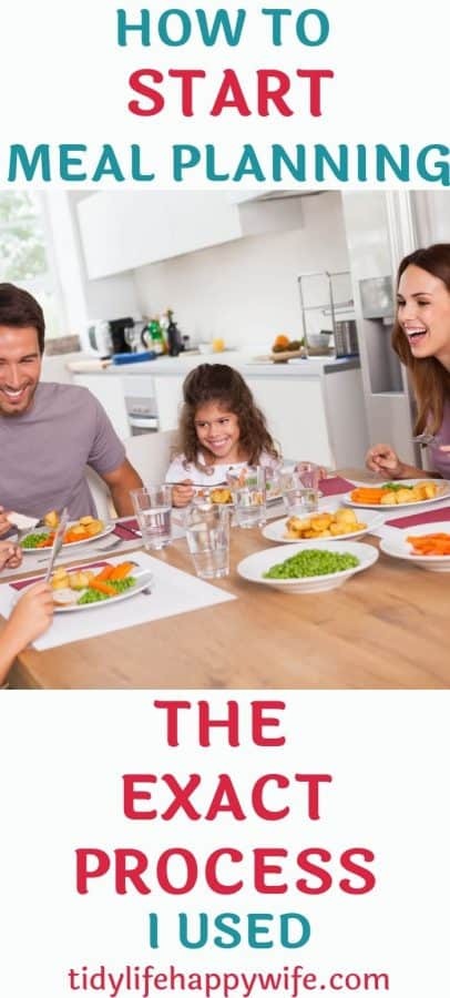 Family eating meal together