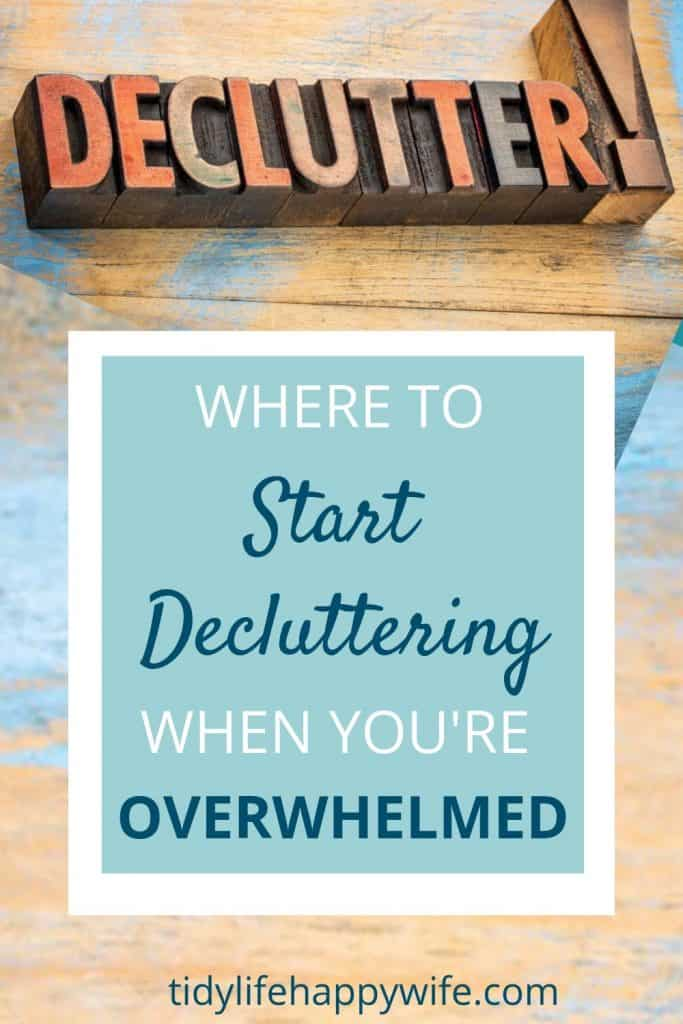 Declutter sign - where to start