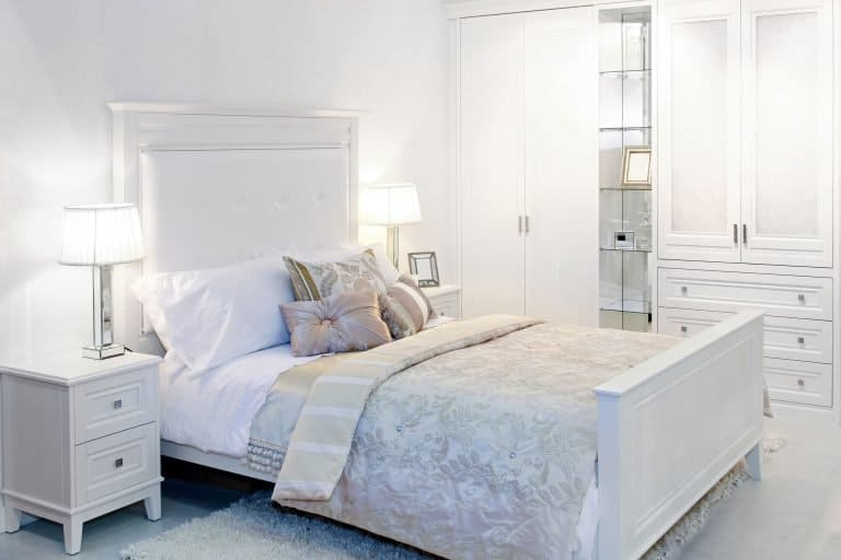 sparkling clean white bedroom