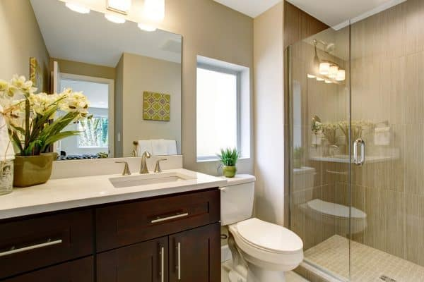 Clean decluttered bathroom