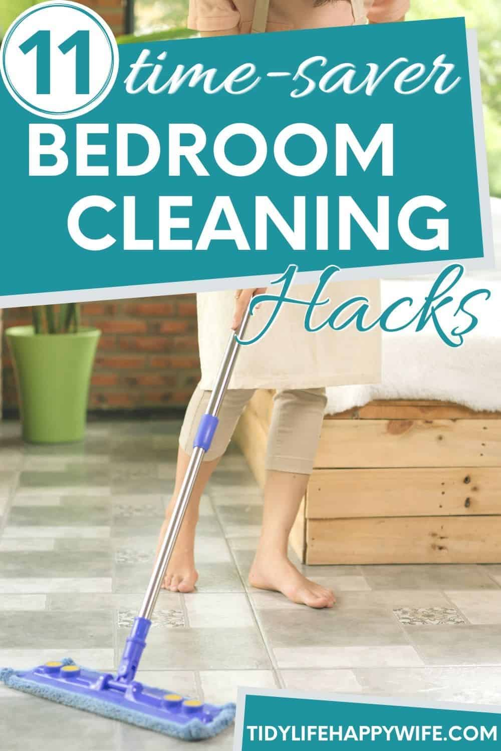 11 quick and easy bedroom cleaning hacks to keep your bedroom clean and tidy all the time. From freshening your bed to cleaning your windows, there's a bedroom cleaning tip to fit every need. How to freshen your matress. Cleaning tips for dusty blinds and cloth surfaces. Tricks for eliminating mold and mildew, and how to freshen the entire room. Try these bedroom cleaning hacks to get your room cleaned right now. via @Tidylifehappywife