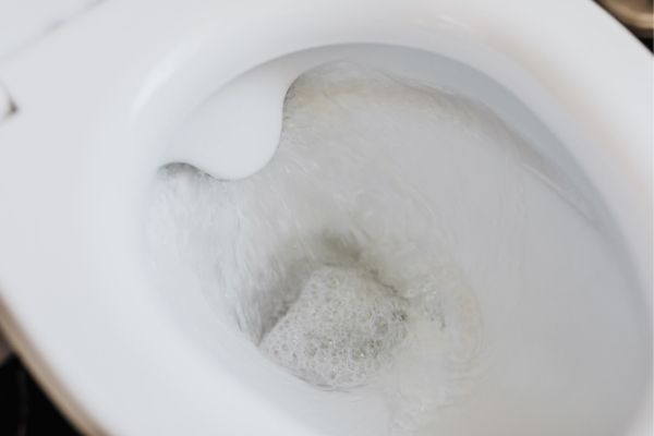 dirty toilet bowl