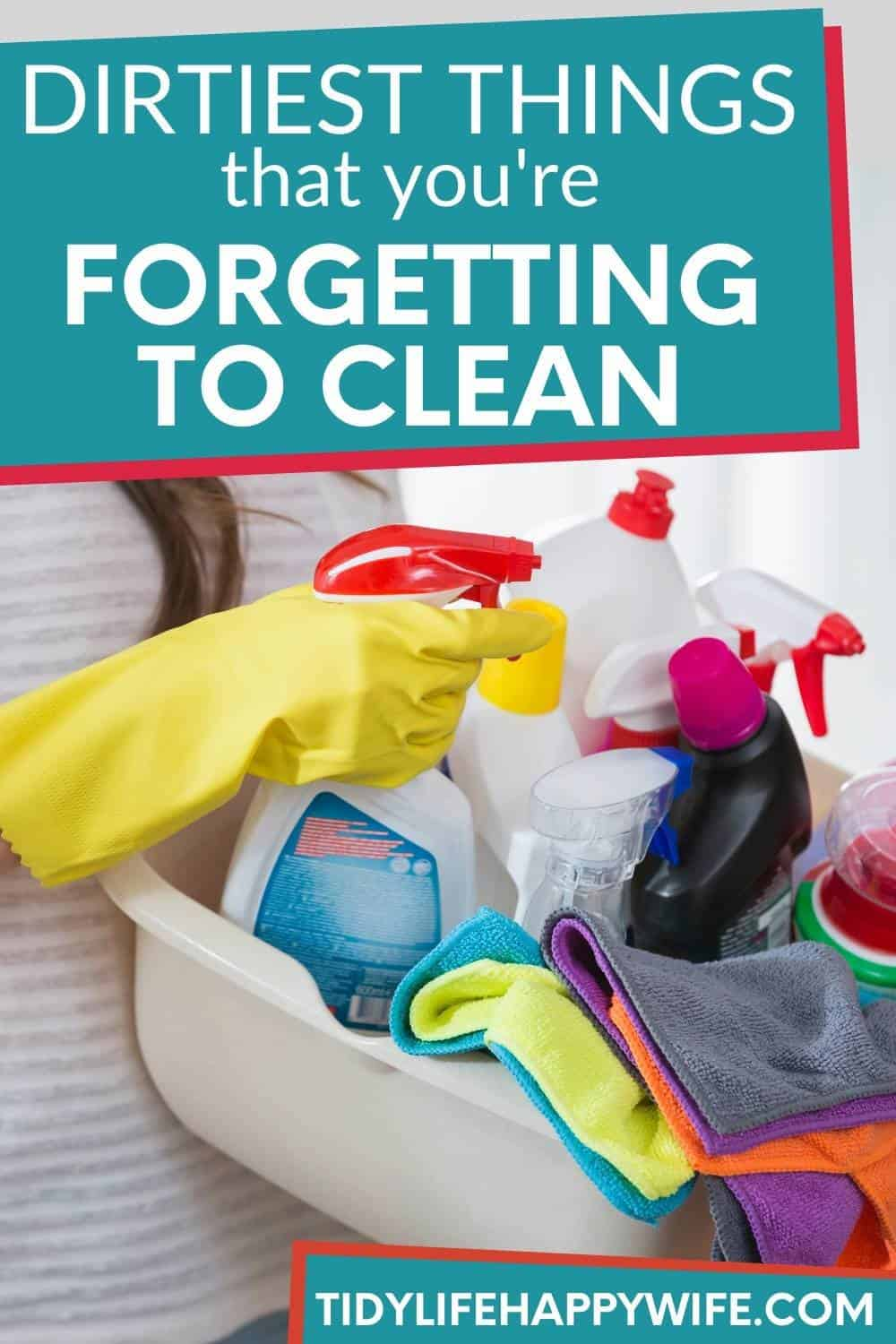 Oh, the things we forget to clean! You dusted, wiped the counters, and mopped the floors. You're certain you cleaned it all . . . But what if you didn't? People forget to do things all the time. You don't want to worry that your guest will find a spot in your bathroom or kitchen that you forgot to clean. Check out the dirtiest places most people forget to clean. If you find a couple you're not cleaning, add them to your regular cleaning routine so you don't have to worry anymore. via @Tidylifehappywife