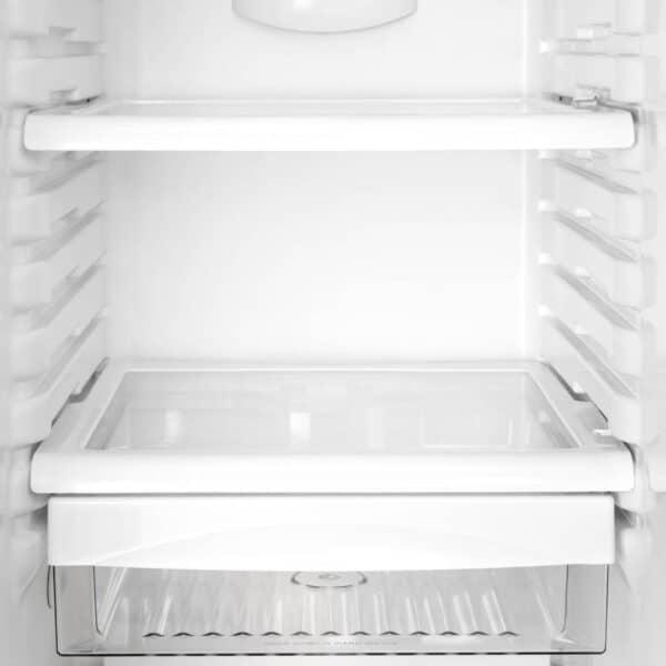 reinstalling cleaned refrigerator shelves