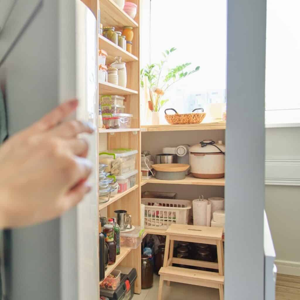 pantry of unwanted items that need to be decluttered