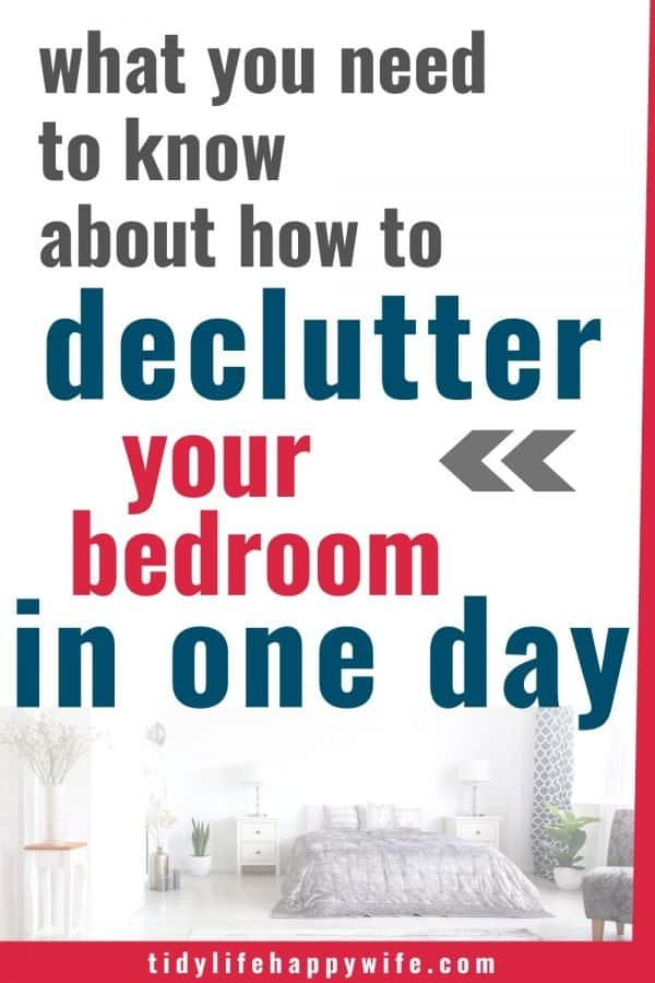 decluttered bedroom